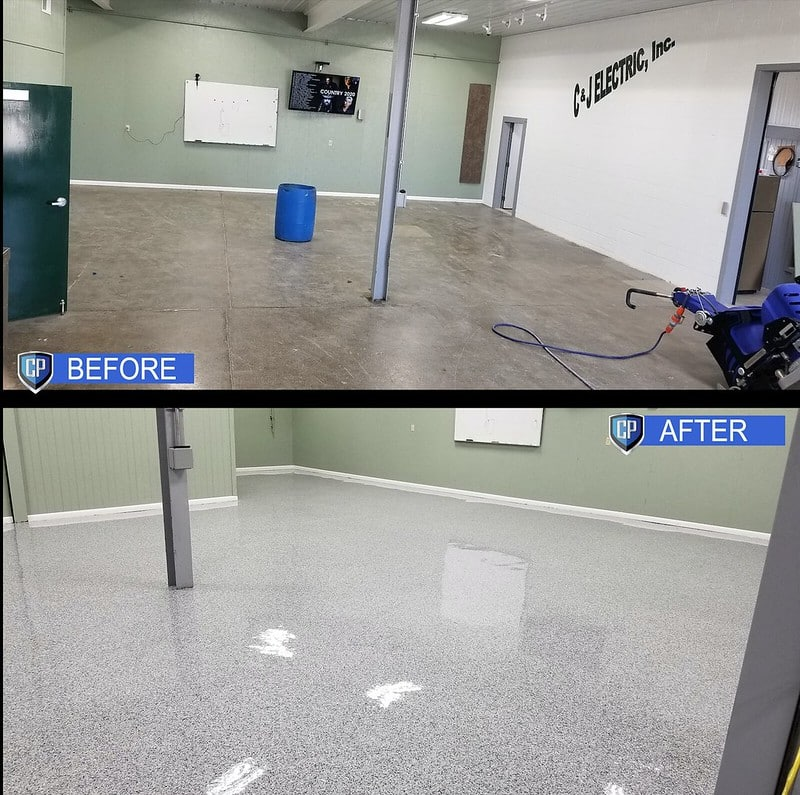 before and after concrete sealing