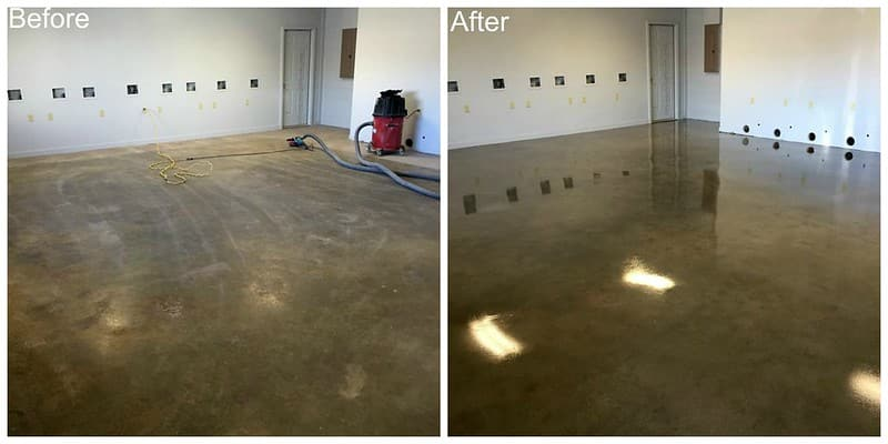 before and after sealing your concrete
